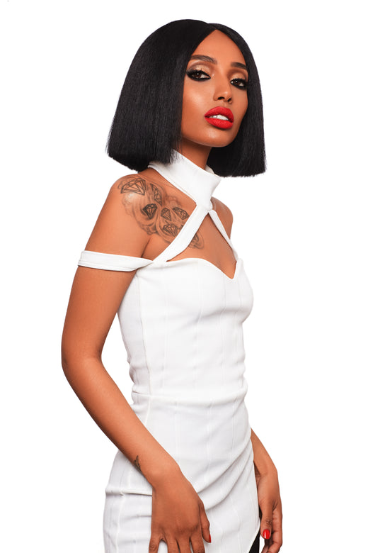 100% Human Hair Short Wigs For Black Women