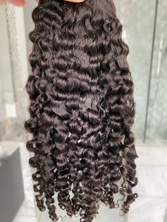 3B Curl Wefted Hair