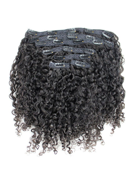 Clip-in extensions for natural hair