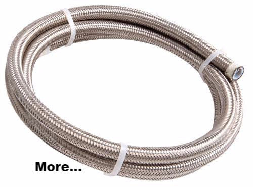 AEROFLOW 200 Series PTFE (Teflon) Stainless Steel Braided Hose
