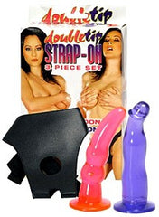 Double Tip 3 Piece Strap-on Set