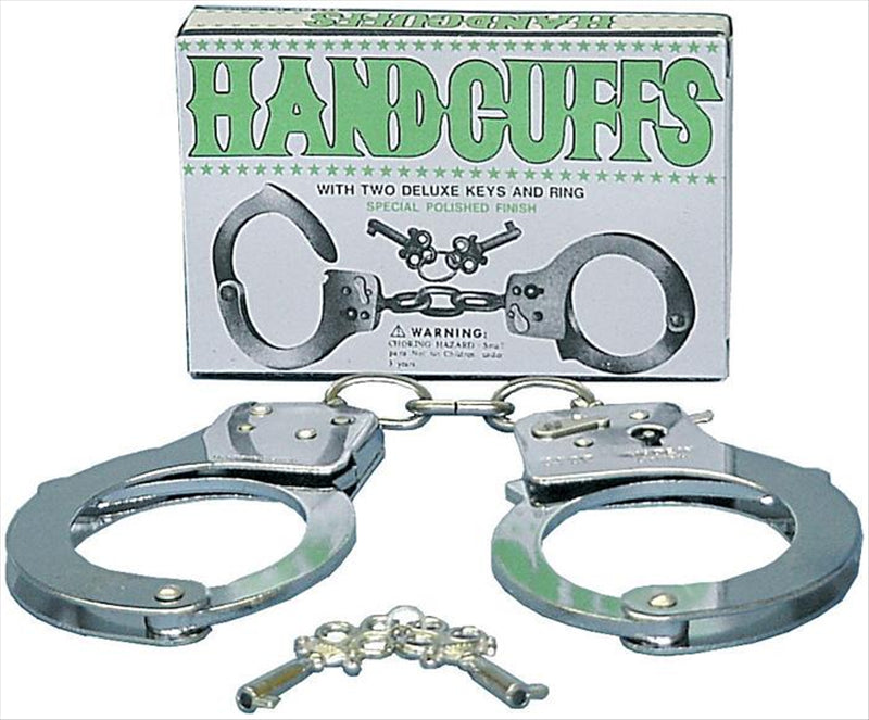 Metal Handcuffs with 2 Deluxe Keys