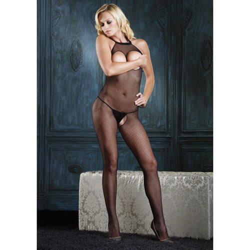 Leg Avenue Fishnet Halter Bodystocking