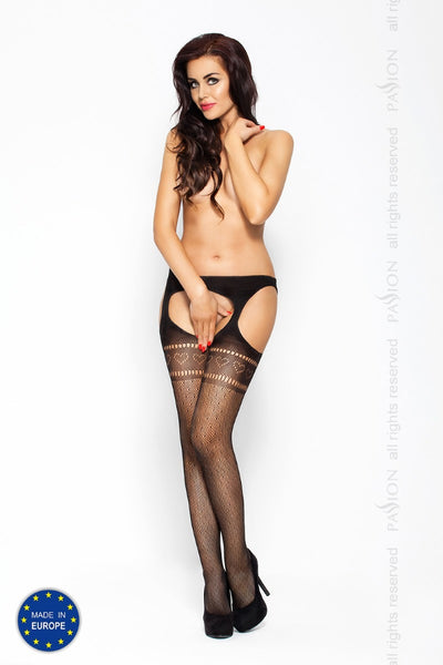 Passion Heart Lace Suspender Tights