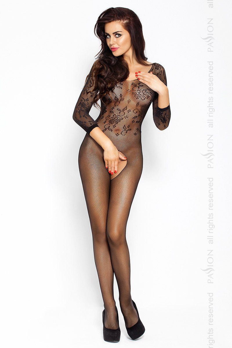 Passion Full Body Tight Mesh Motif Bodystocking