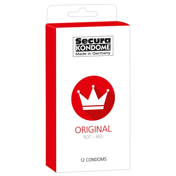 Secura Original Red Condoms - 12 Pack