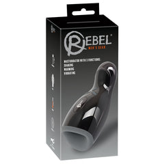Rebel Rechargeable Masturbator - Vibration-Warming-Shaking