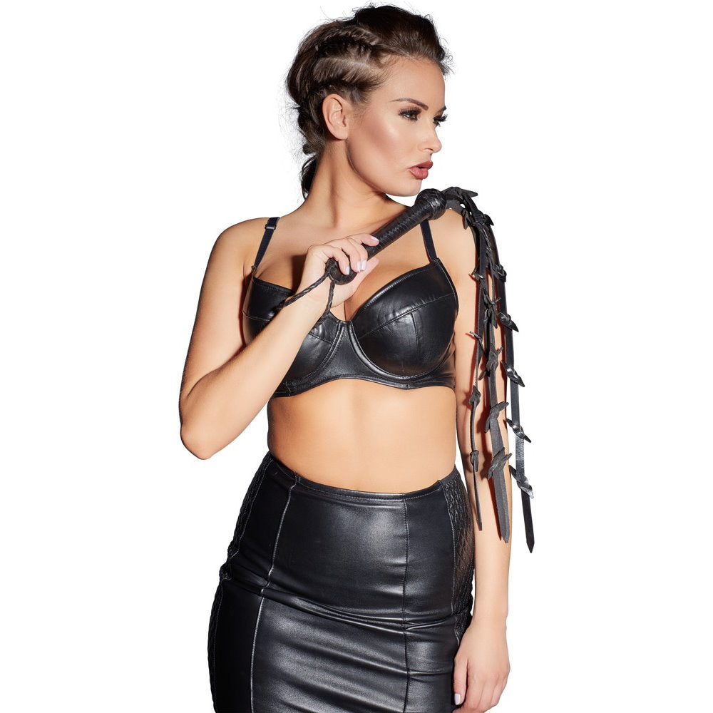 Zado - Leather Barbed Flogger