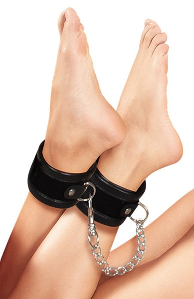 Ankle Cuffs Black - Bad Kitty