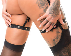 Bad Kitty Suspender Belt With Clamps