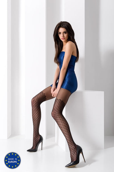 Passion - Full Diamond Patterned Tights