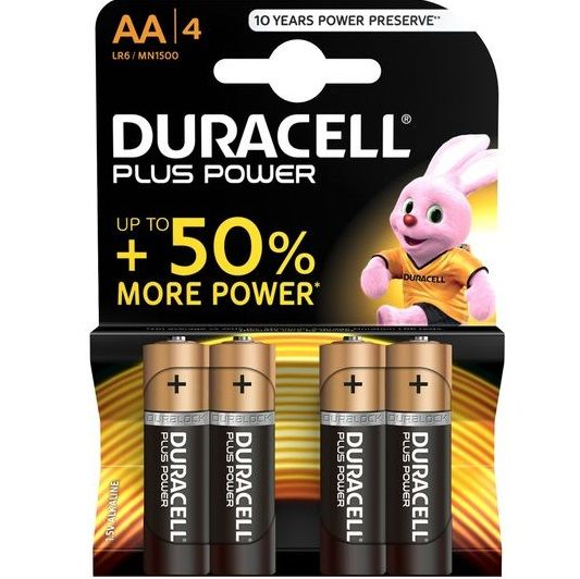 Duracell Plus Power Battery AA 4 Pack