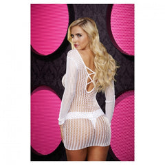 Lapdance Center Stage Mini Dress White