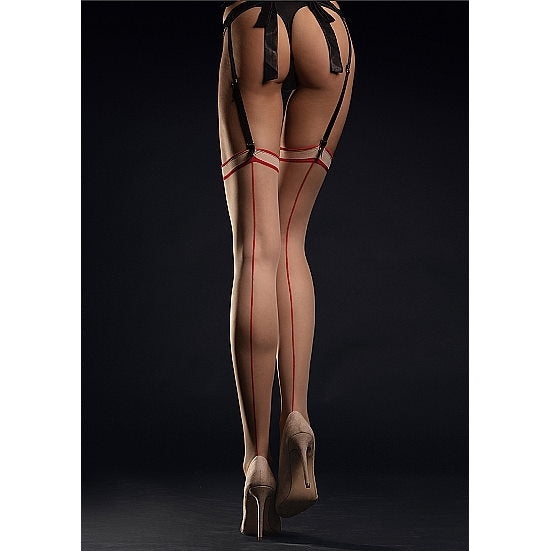 Fiore - MADAME Stockings Stockings 20 den - Red