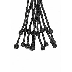 Short Leather Braided Flogger - Black