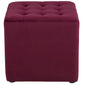 Velour sittpuff - bordeaux