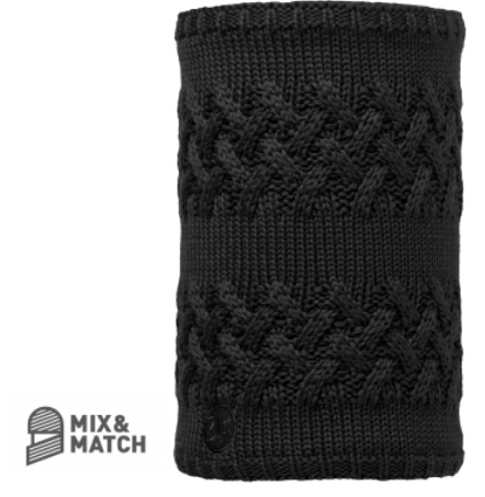 Buff Knitted Neck Warmer Black