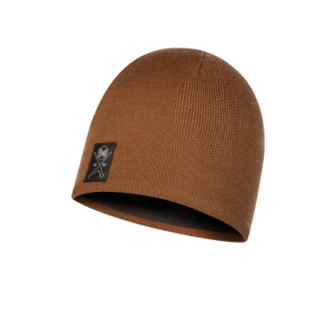 Buff Knitted & Polar Hat Solid Tundra Khaki
