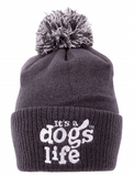 A Dogs Life Beanie With Pom