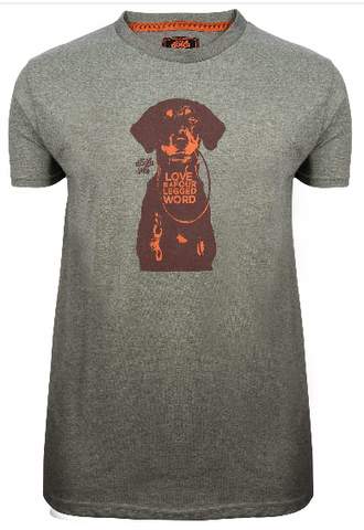 Its A Dogs Life 4 Legged Word Military Green T Shirt