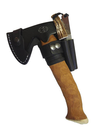 Karesuando Mettämies Bushcraft Survival Axe BLACK Beech Handle
