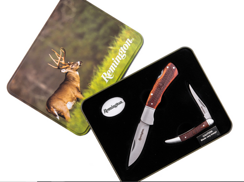Remington Back Lock & Toothpick Gift Set In Tin