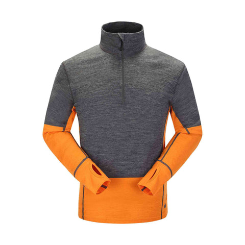 Skogstad Rostene Mens Merino Top Jaffa Orange