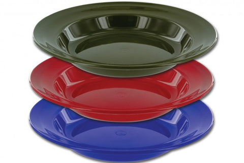 Highlander Deep Plate Bowl Large Lip Colour Blue | Outdoor Adventurer
