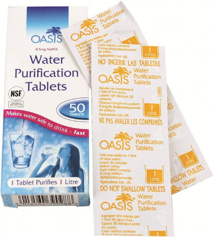Oasis Water Purificaton Tablets | Outdoor Adventurer
