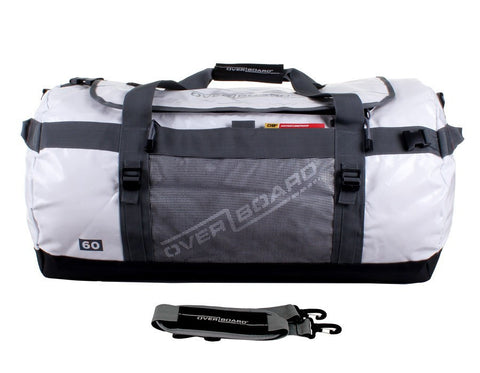 Overboard 60L White Adventure Duffel | Outdoor Adventurer