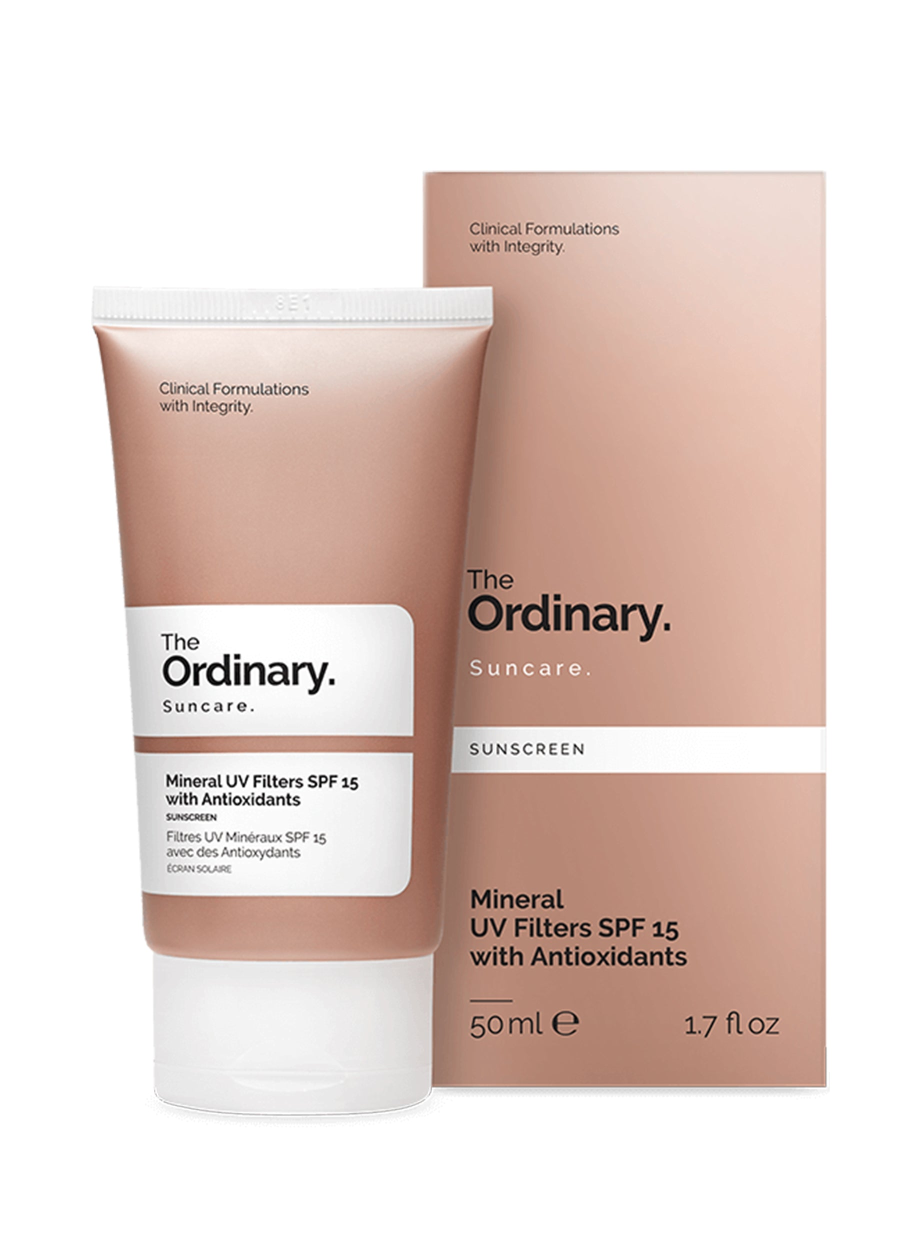 The Ordinary Mineral UV Filters SPF 15 with Antioxidants 50ml