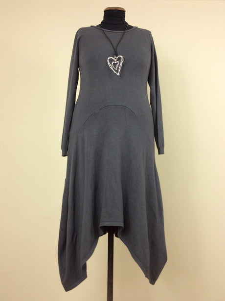 Styled in Italy grey knitted dress