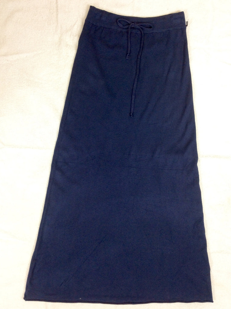 Styled in Italy blue long knitted skirt