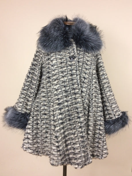 Made in Italy coat with faux fur collar and cuffs