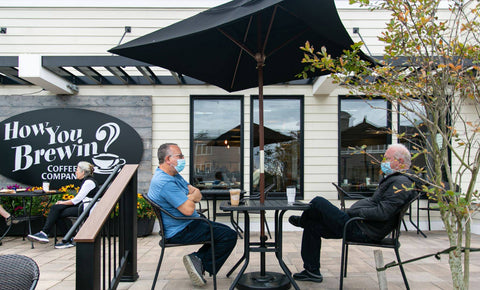 Outdoor seating on Long Beach Island
