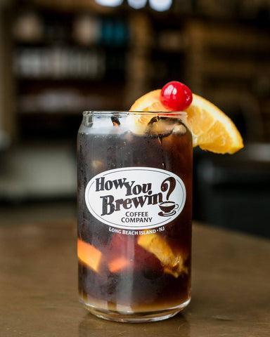 Cold fashioned, cold brew mocktail