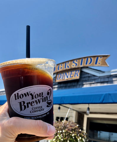 Cold brew at Dockside Diner on Long Beach Island