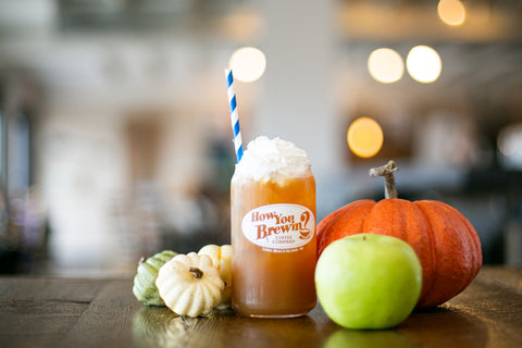 Fall Mocktails with pumpkin