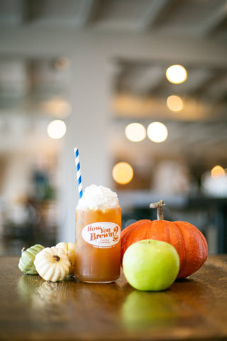 Awesome Autumn Punch mocktail at How You Brewin Coffee Company
