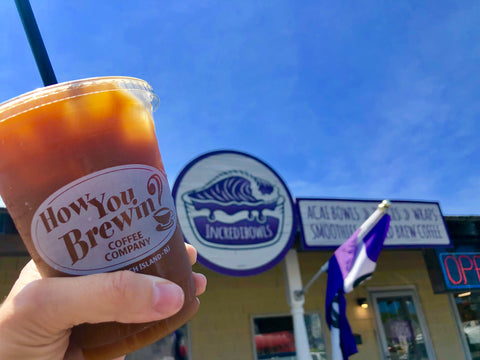 Cold brew at Incredibowls on Long Beach Island