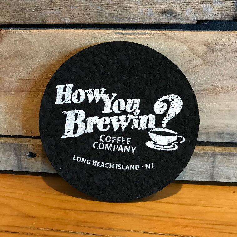 Recycled Rubber Logo Coaster