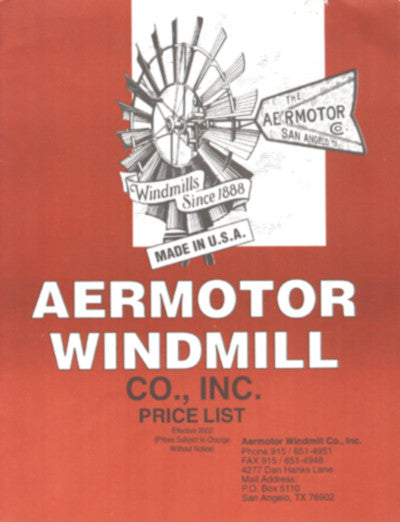 Aermotor Windmill Catalog