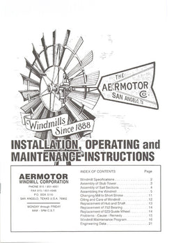 Aermotor Windmill Owner's Manual