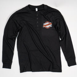 Aermotor Men's Long Sleeve Henley (Black)