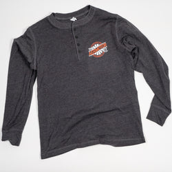 Aermotor Men's Long Sleeve Henley (Gray)