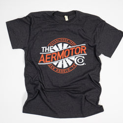 Aermotor Logo Heavyweight Tee (Heather Black)