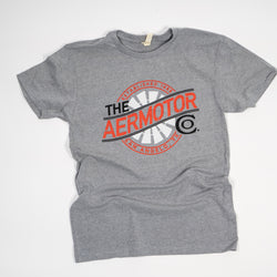 Aermotor Logo Heavyweight Tee (Heather Gray)