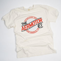 Aermotor Logo Heavyweight Tee (Natural)