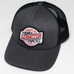 Aermotor Hat Stitch Patch (Charcoal-Black)