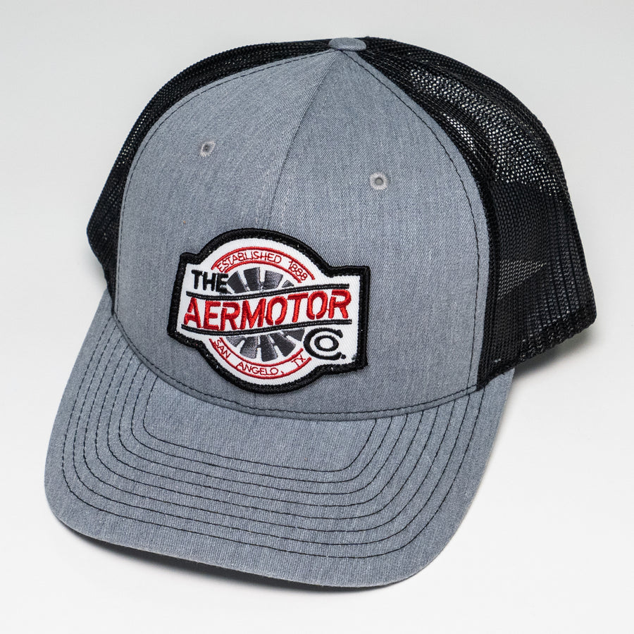 Aermotor Hat Stitch Patch (Heather Gray-Black)